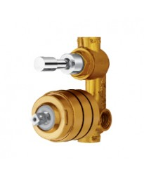 HIGH FLOW SINGLE LEVER CONCEALED DIVERTOR COMPACT BODY