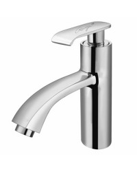 SINGLE LEVER BASIN MIXER WITH BRAIDED HOSES