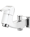 2 IN 1 BIB COCK WITH WALL FLANGE