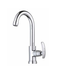 SINK COCK WITH REG. SWINGING SPOUT T/M SWAN NECK