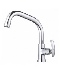 SINK COCK WITH SWINGING EXTENDED SPOUT T/M SWAN NECK