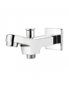 BATH TUB SPOUT WITH BUTTON WALL FLANGE