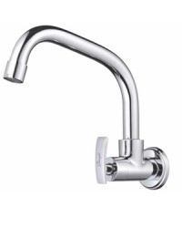 SINK COCK WITH SWINGING EXTENDED SPOUT W/M WALL FLANGE