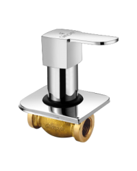 CONCEALED STOP COCK EXTRA HEAVY BODY WITH WALL FLANGE