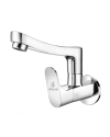 SINK COCK WITH REG. SWINGING SPOUT WITH WALL FLANGE (W/M)