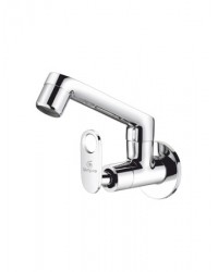 SINK COCK WITH REG.SWINGING SPOUT WITH WALL FLANGE (W/M)