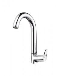 SINK COCK WITH REG.SWINGING SPOUT.(T/M- SWAN NECK)
