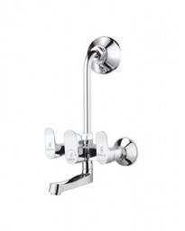 WALL MIXER WITH BEND FOR ARRANGEMENT OF OVERHEAD SHOWER